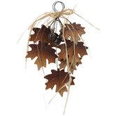 Maple Leaves & Bells Wood Wall Decor