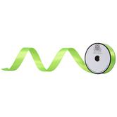 "Neon Green Double-Face Satin Ribbon - 7/8"""