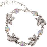 Unicorn & Rhinestone Bracelet