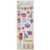 Birthday Girl Foil Stickers
