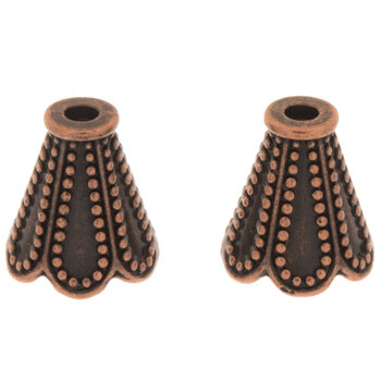 Scalloped Bead Cones - 11mm x 12mm