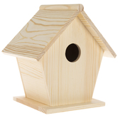 Traditional Pentagon Wood Birdhouse