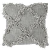 Sage Diamond Fringe Pillow