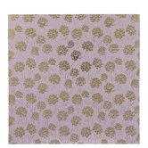 "Pink & Gold Floral Scrapbook Paper - 12"" x 12"""