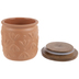 Terracotta Patterned Canister - Small