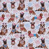 Patriotic Pups Cotton Fabric