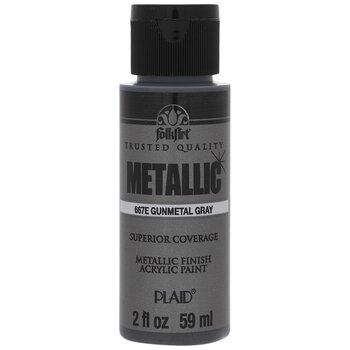 Gunmetal Gray Metallic Acrylic Paint