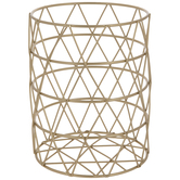 Gold Geometric Wire Metal Pencil Holder