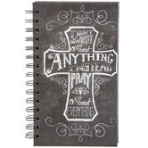 Chalkboard Cross Spiral-Bound Journal
