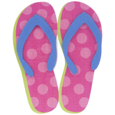 Polka Dot Flip-Flops Painted Wood Shape