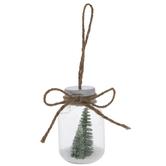 Snowy Trees In Jars Shaker Ornament