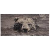 Swimming Bear Wood Wall Decor