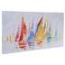 Multi-Color Sailboats Canvas Wall Decor