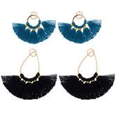 Blue & Black Tassel Charms