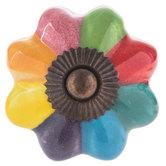 Multi-Color Scalloped Knob