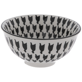 Black & White Chicken Print Bowl
