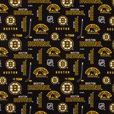 NHL Boston Bruins Allover Cotton Fabric