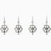 Flower Ear Wires - 23mm