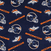 NFL Denver Broncos Fleece Fabric