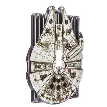 Millennium Falcon Metal Single Switch Plate