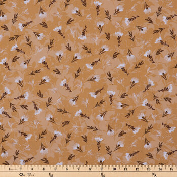 Mustard & White Floral Apparel Fabric