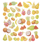 Tropical Fruit Glitter Stickers