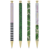 Green & Gold Assorted Pens - 4 Piece Set