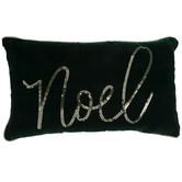 Green & Gold Noel Pillow