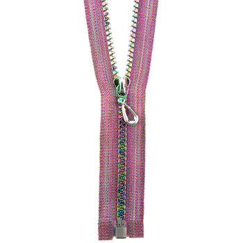 """Pink Fancy Zipper - 9"""""""