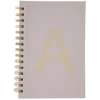Pink & Gold Foil Letter Journal
