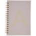 Pink & Gold Foil Letter Journal - A
