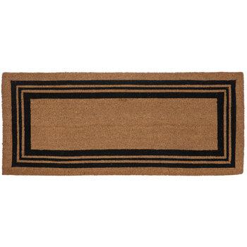 Black & Natural Block Stripe Doormat