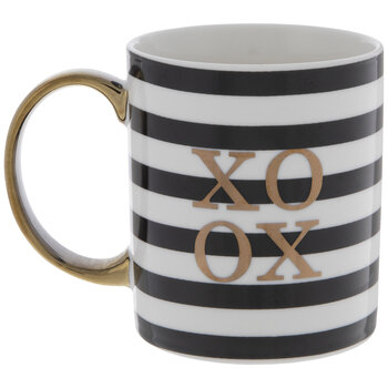 XOXO Striped Mug