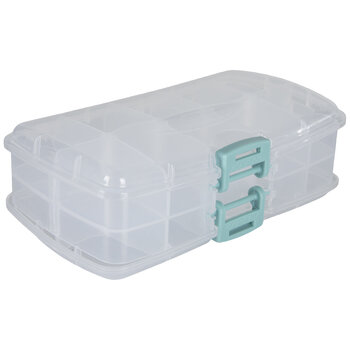 Double-Sided Adjustable Compartments Storage Container