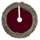 Faux Fur Trimmed Velvet Mini Tree Skirt