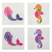 Mermaid & Seahorse Tattoos