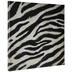 Uneven Zebra Print Canvas Wall Decor