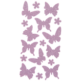 Pink Butterfly Glitter Stickers