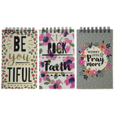 Floral Faith Mini Spiral Notebooks