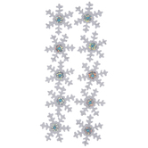 White Rhinestone Snowflake Stickers