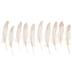 White Glitter Feathers - 7