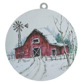 Red Barn Wreath Embellishment