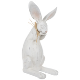 White Distressed Standing Bunny