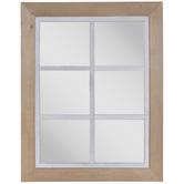Window Pane Wood Wall Mirror