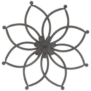 Gray Flower Metal Wall Decor