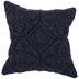Blue Chenille Embroidered Pillow Cover
