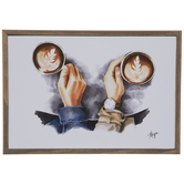 His & Hers Coffee Wood Wall Decor