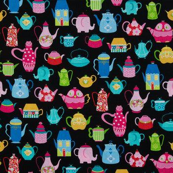 Novelty Tea Pots Cotton Calico Fabric