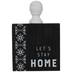 Let's Stay Home Wood Decor
