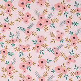 Blush Watercolor Roses Apparel Fabric